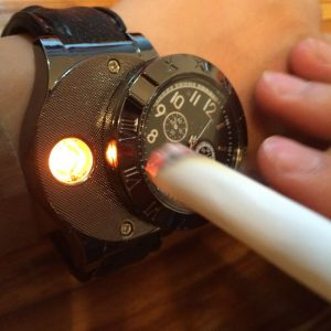 Men's Watch With Built-in Lighter