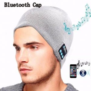 Beanie With Built In Bluetooth Headphone And Mic