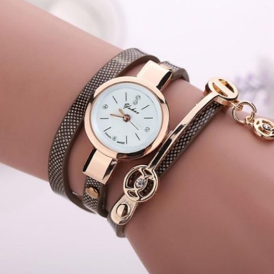 Bracelet Watch Black Silver